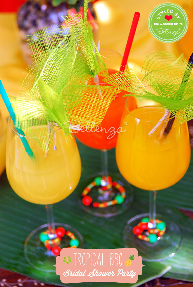 Include a tropical mimosa bar complete with juices like pineapple, passion fruit, and mango.