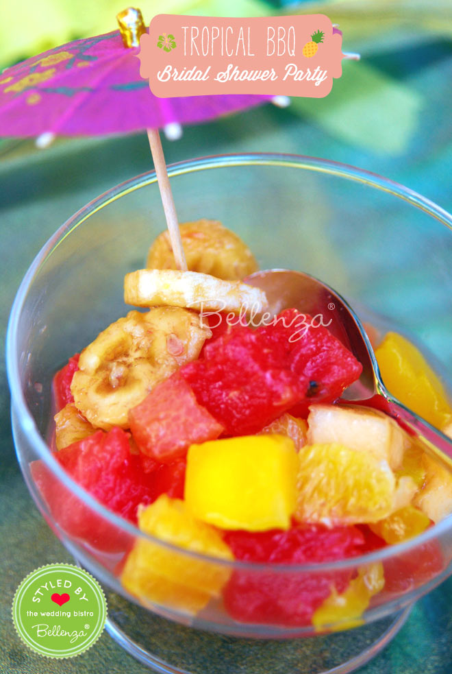 Yummy desserts with fruits keep the menu light and tasty.