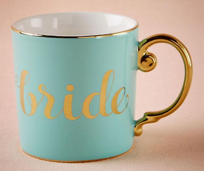Turquoise bride mug via BHLDN