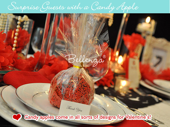 Valentine's candy apples