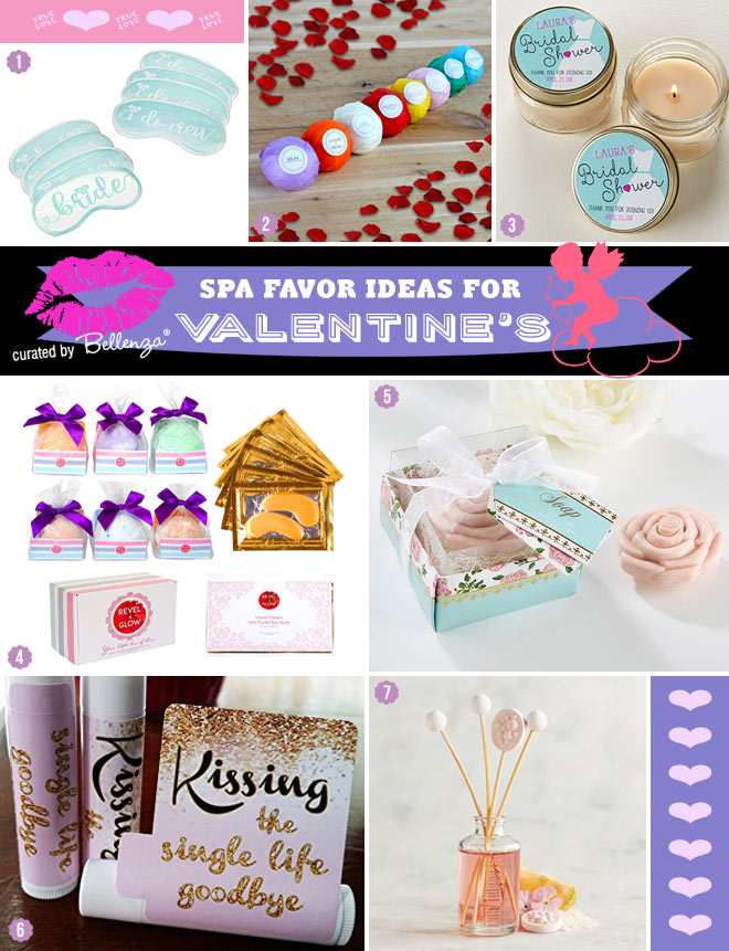 Spa favors for Valentine's bridal shower