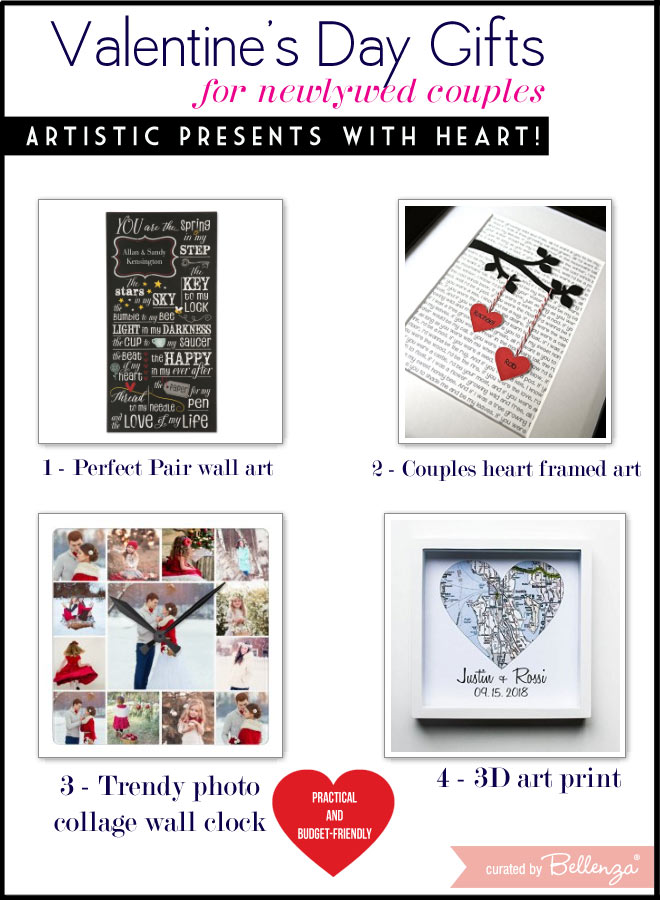 Artistic Presents with Heart from Wall Art to Clocks.