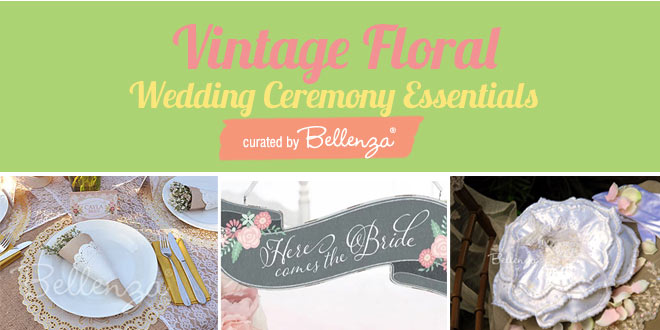 Floral Elements at a Vintage Wedding Ceremony