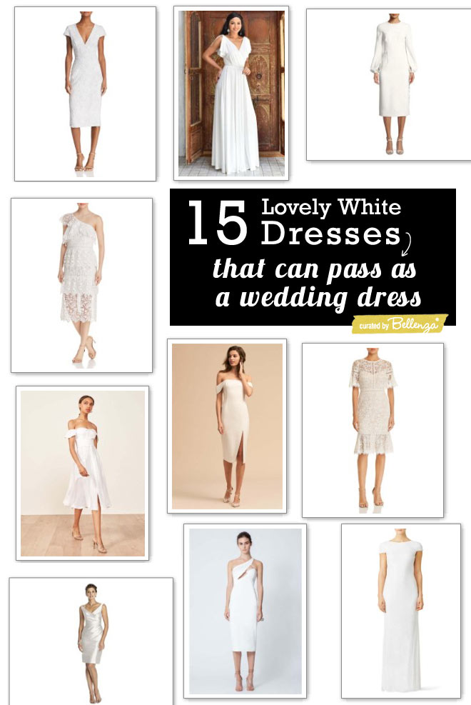 White Cocktail Party Dresses that Could Pass as a Wedding Dress