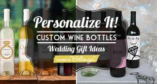Wine bottle label ideas for personalized wedding gifts