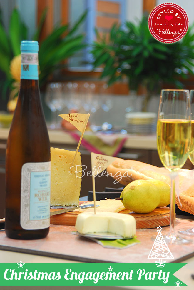 German white wines and assorted cheeses