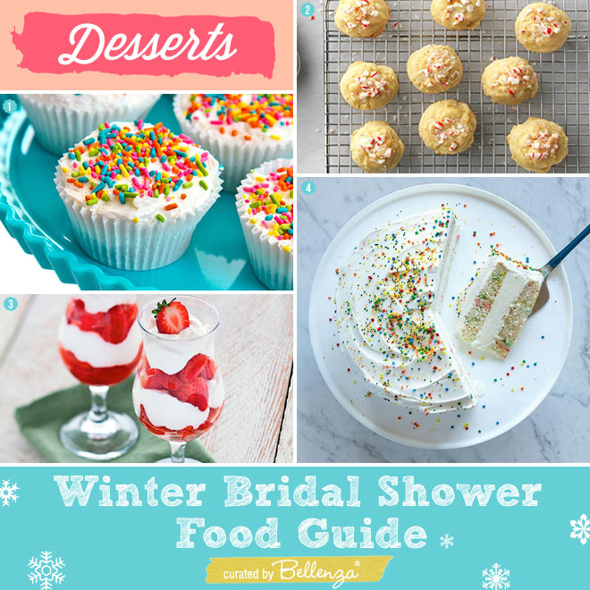 Easy Winter Desserts for a Bridal Shower