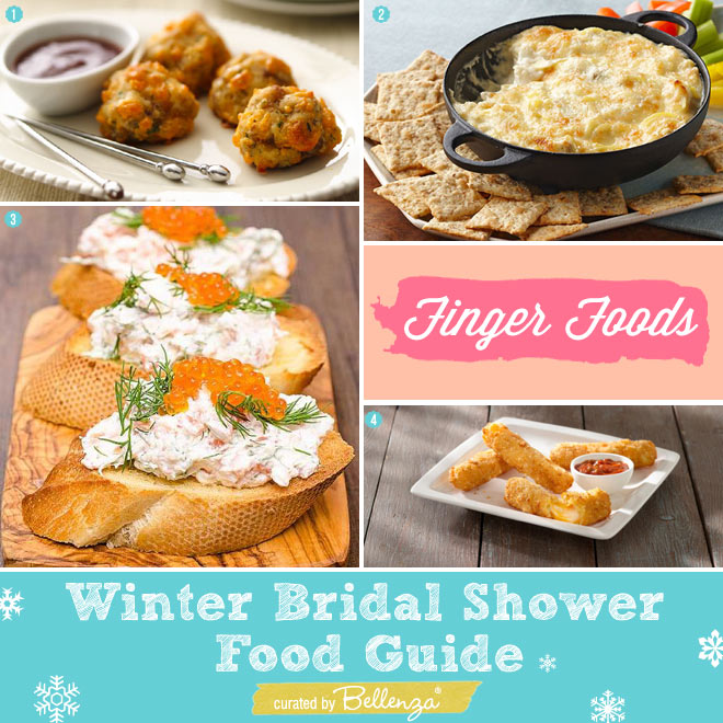 Easy Finger Foods for a Winter Bridal Shower