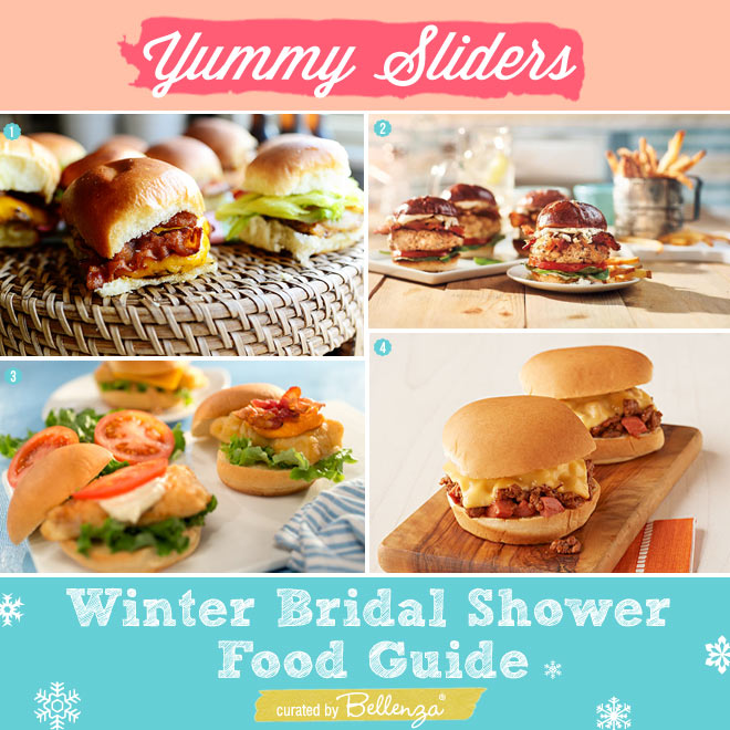 Easy Sliders for a Winter Bridal Shower