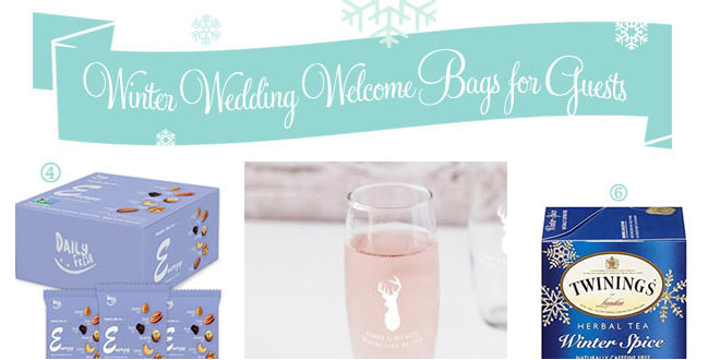 What to use to make winter wedding welcome guest bags