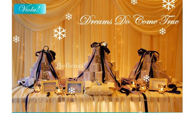 Winter fairytale favor table
