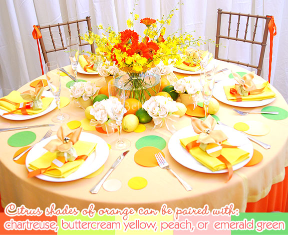 Yellowy spring tablescape for spring weddings or casual bridal parties
